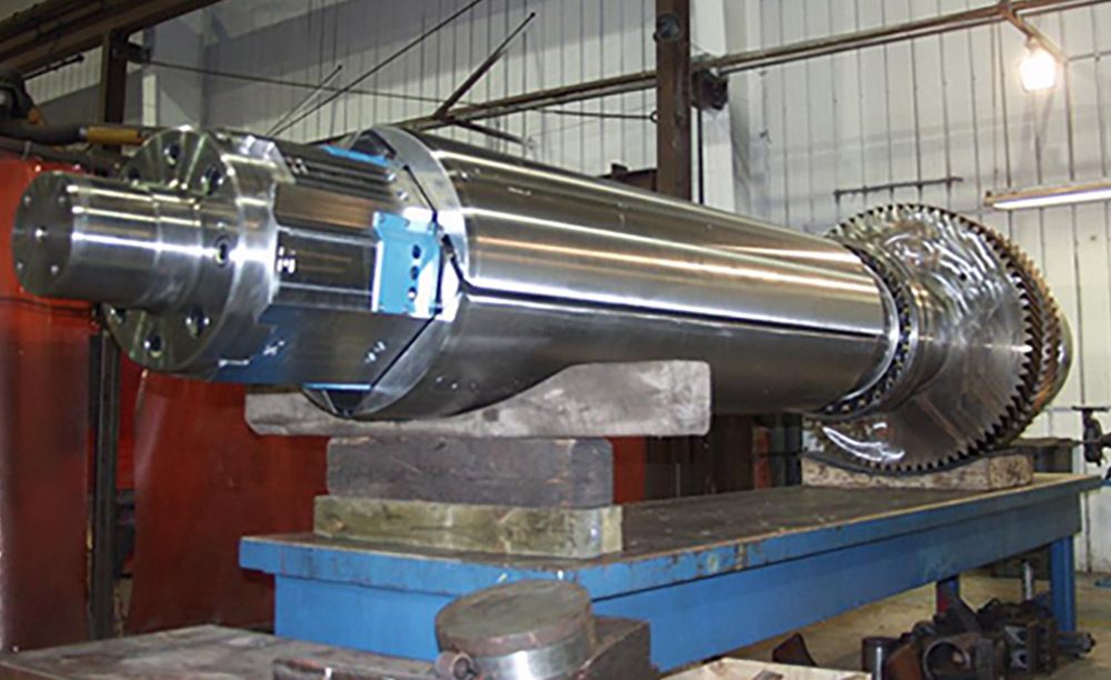 side profile of a stick and run reversing mill mandrel